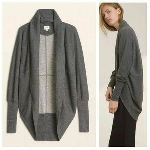 Wilfred Aritzia cocoon gray cardigan diderot XXS
